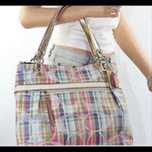 Coach Poppy Daisy Madras Glam Shoulder Bag 19611
